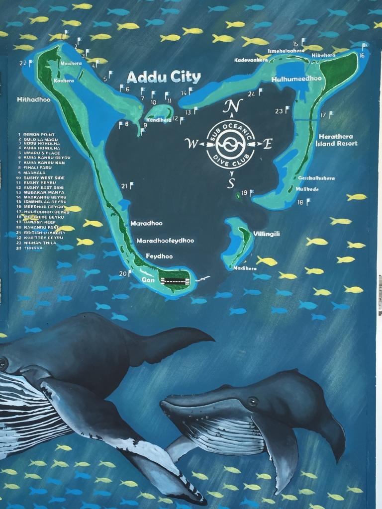 Az atoll és a merülőhelyek